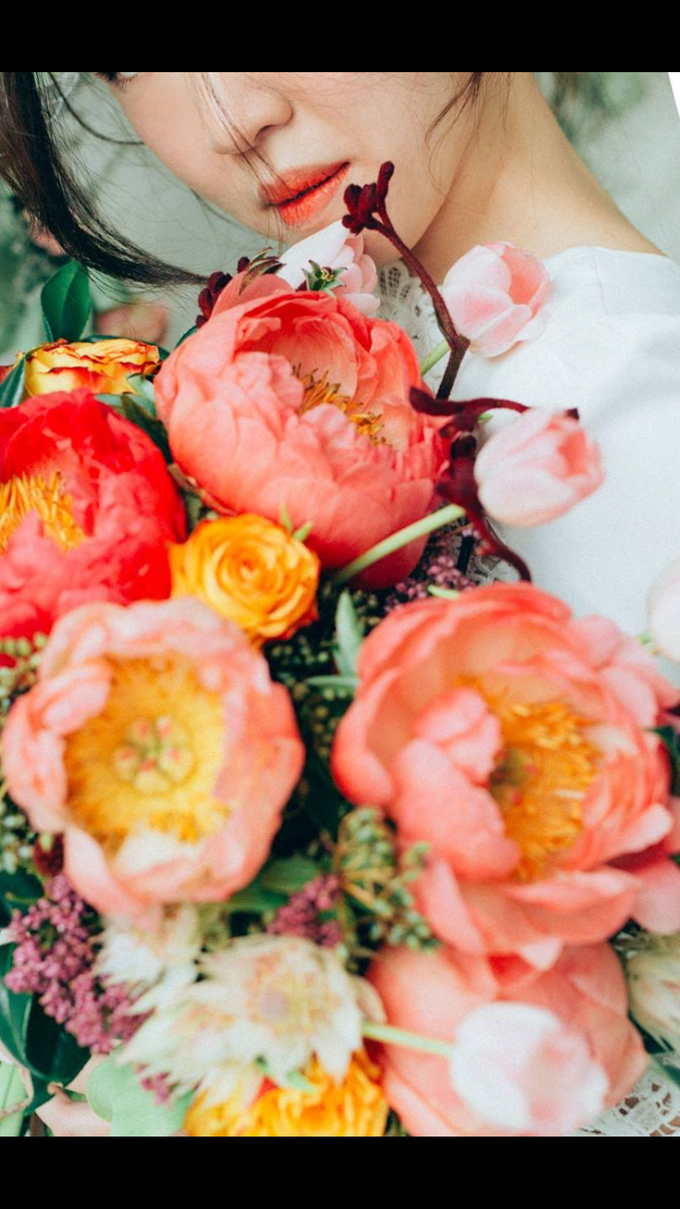 Coral Peony Bouquet  by Floral Paradise - 001