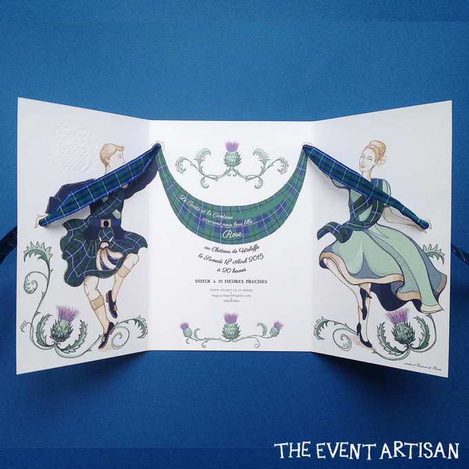 Customised Laser cut Wedding invitation by The Event Artisan - 001