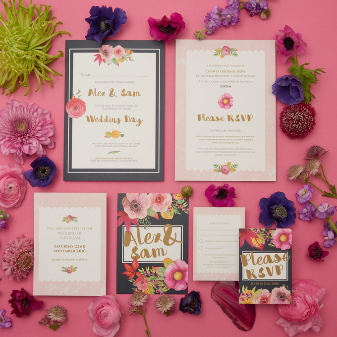 Blooms template design by Vicky Perry Wedding Stationery - 002