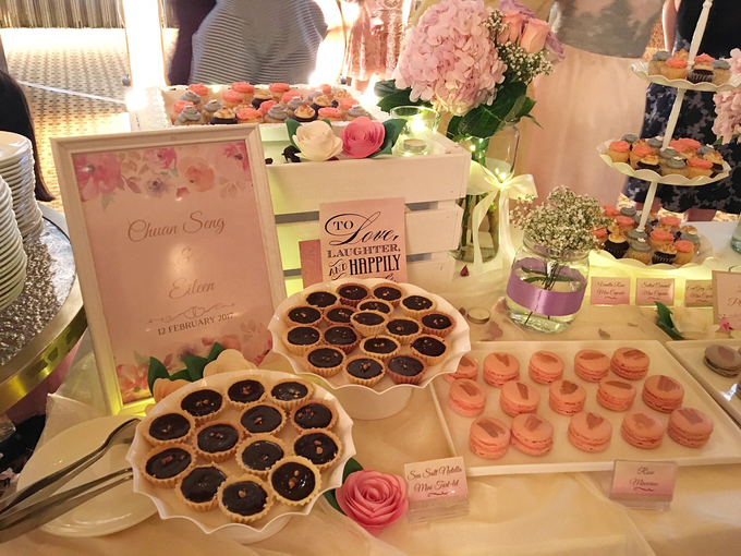 Pink Gold Purple Floral Elegant Dessert Table :) by Conrad Centennial Singapore - 004