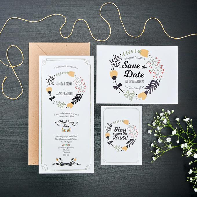 Bespoke designs by Vicky Perry Wedding Stationery - 005