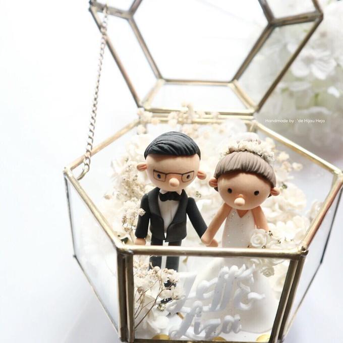 Hexagon glass box ring pillow  by de hijau hejo - 016
