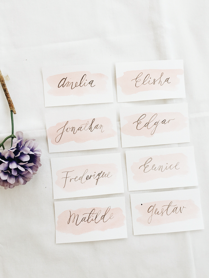 Place Cards by Meilifluous Calligraphy & Design - 002