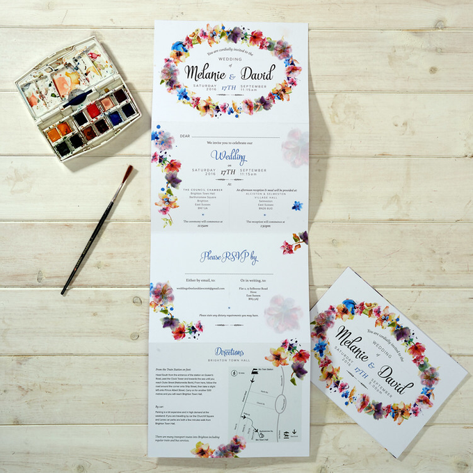 Bespoke designs by Vicky Perry Wedding Stationery - 010