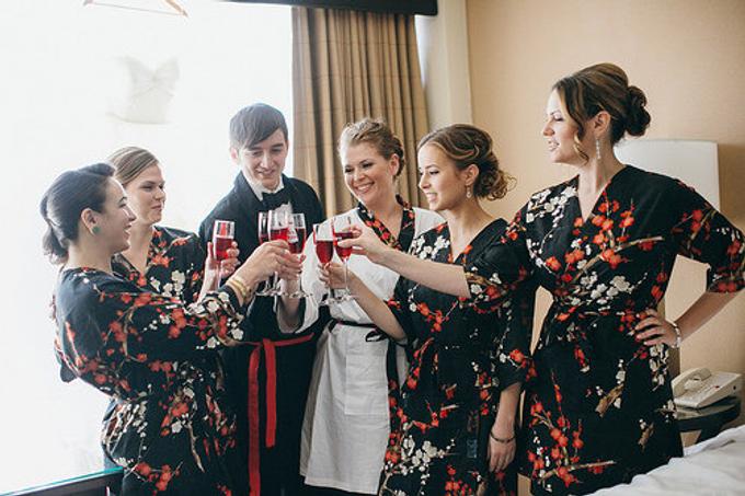Bridesmaids Robes by Modern Kimono - 013