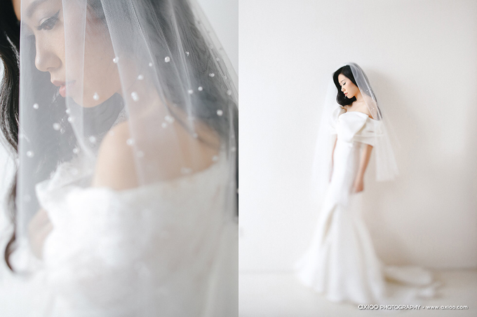Veil & Pearls : Ileana & Eric Monochromatic by Elsie Chrysila Brides - 003