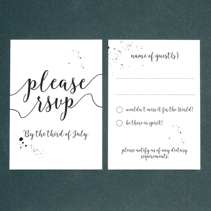 Chic template design by Vicky Perry Wedding Stationery - 003
