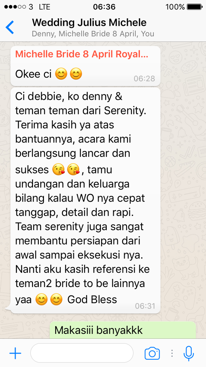 Testimoni from our Lovely Groom n Bride  by Serenity wedding organizer - 022