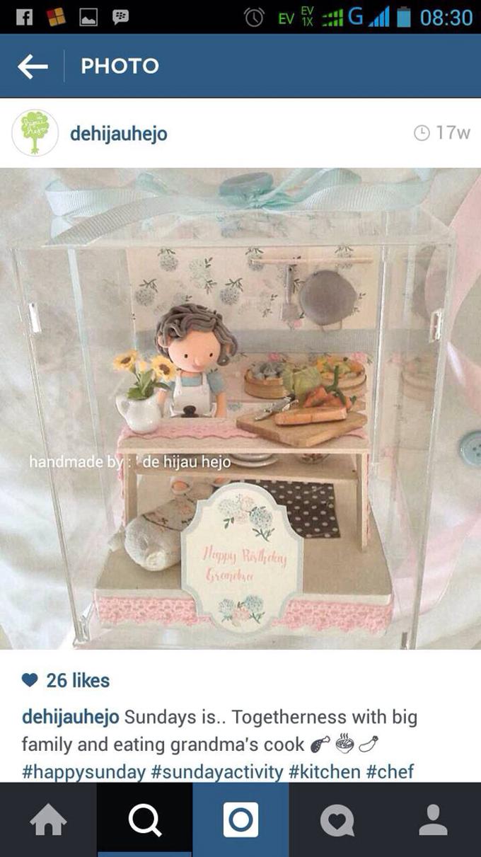 Birthday gift idea (single miniature in a box) by de hijau hejo - 001