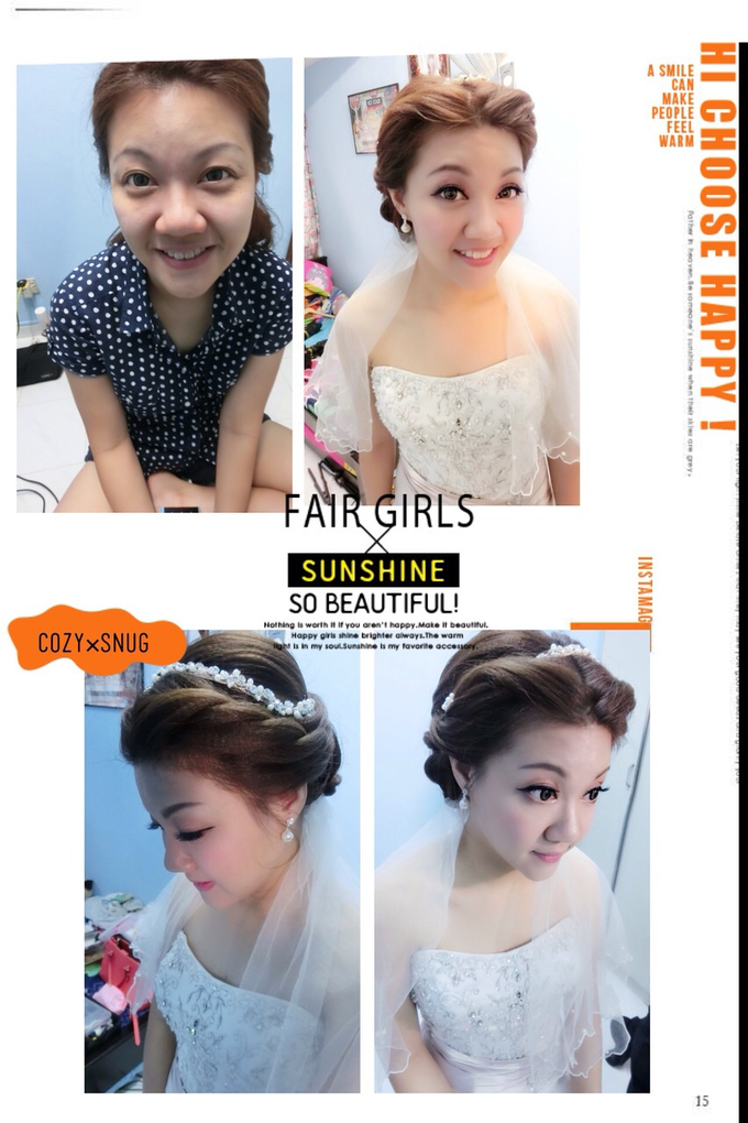 Bridal makeup and hairstyling  Actual day  by VIVI PROFESSIONAL BRIDAL MAKEUP - 007