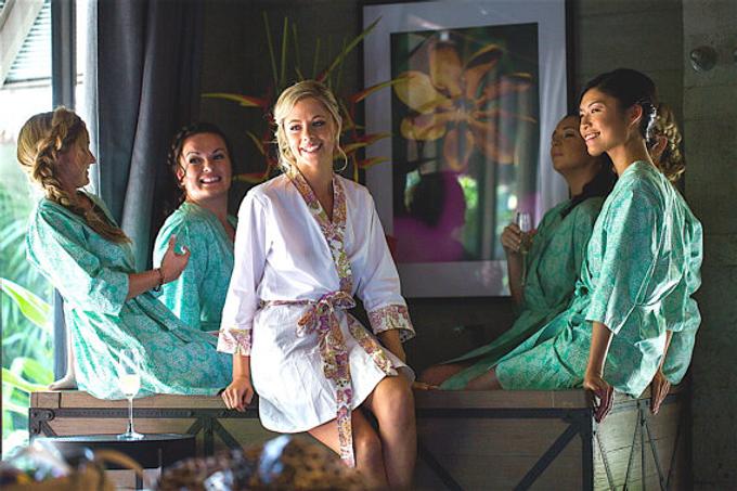 Bridesmaids Robes by Modern Kimono - 011