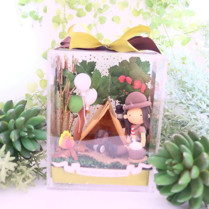 Birthday gift idea (single miniature in a box) by de hijau hejo - 004