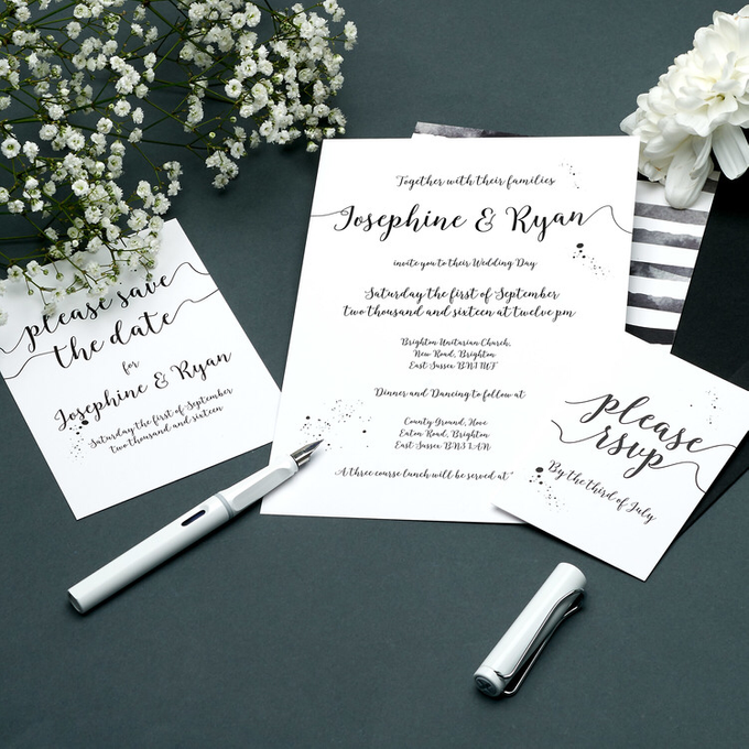 Chic template design by Vicky Perry Wedding Stationery - 006