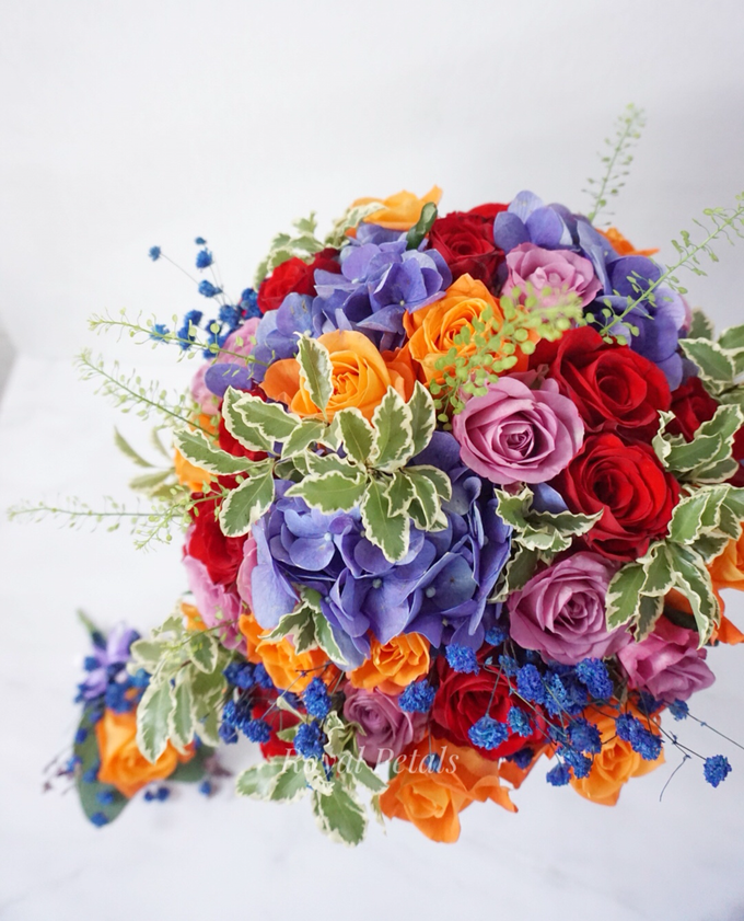 Candy crush wedding bouquet by Royal Petals - 001