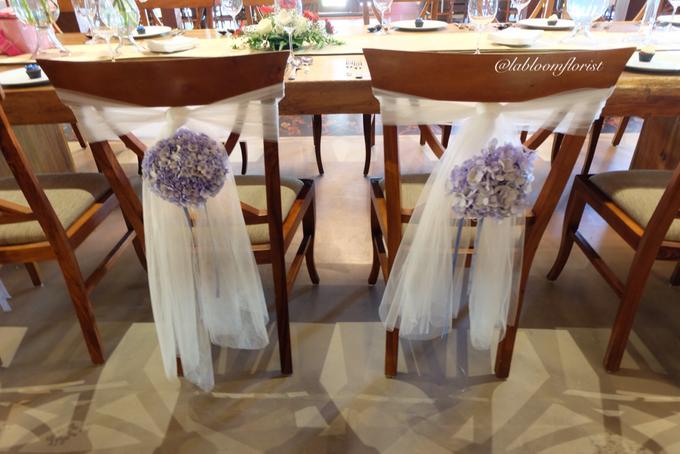 Pantro & Dini's Reception Decor by La Bloom Florist - 003
