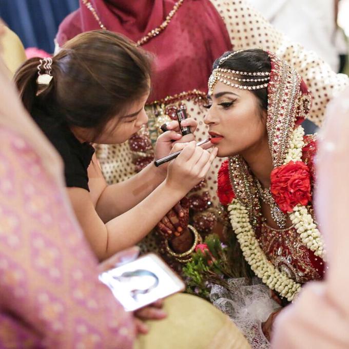 Bee Meera's Wedding by YRegina Makeup - 009