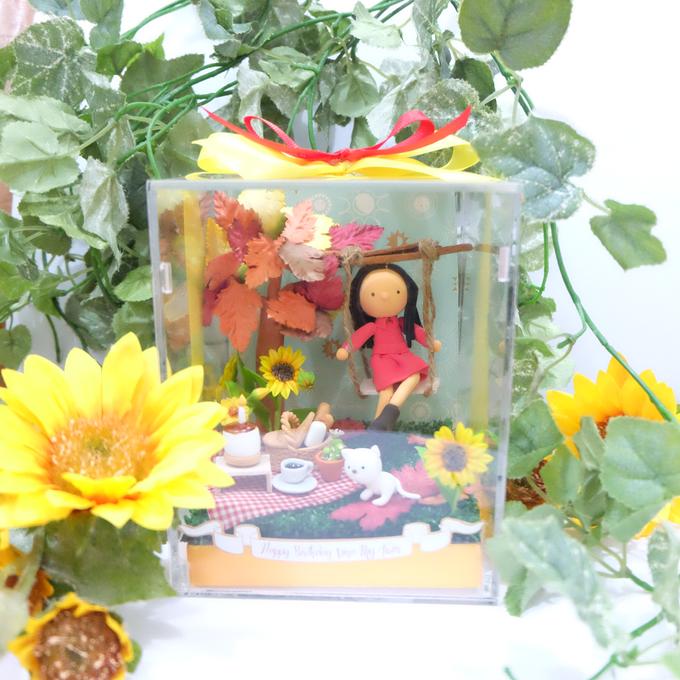 Birthday gift idea (single miniature in a box) by de hijau hejo - 005