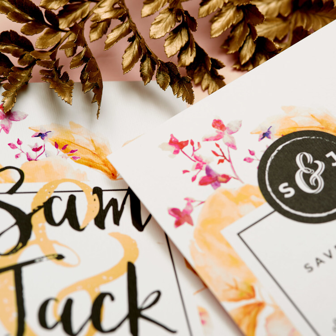 Vintage Floral template design by Vicky Perry Wedding Stationery - 008