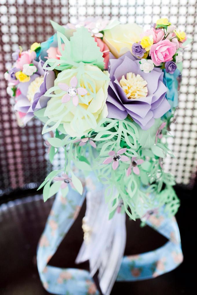 Pastel Handcrafted Entourage Bouquets by Duane's Fleur Creatif - 032