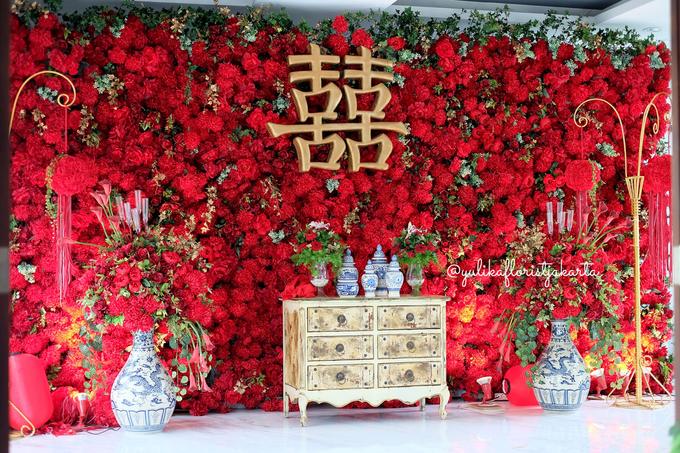 Red Sangjit Dicky & Elzshia by Yulika Florist & Decor - 002