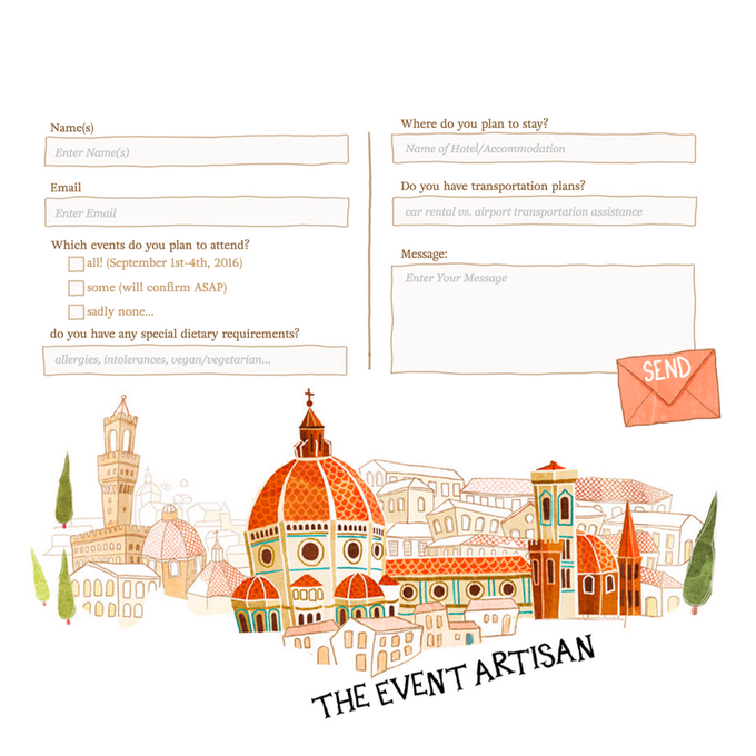 Customised Wedding Website  by The Event Artisan - 006