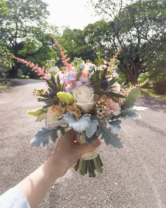 Rustic Bridal Bouquet by Liz Florals - 001