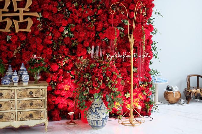 Red Sangjit Dicky & Elzshia by Yulika Florist & Decor - 004
