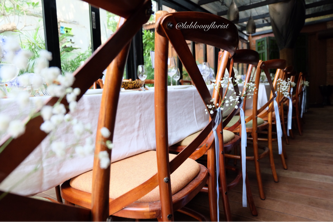 Pantro & Dini's Reception Decor by La Bloom Florist - 004
