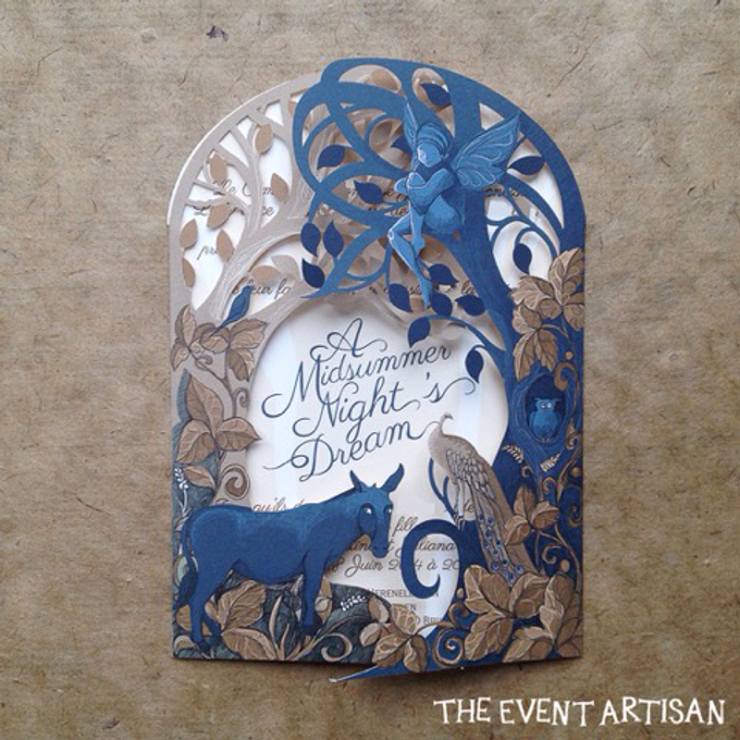 Customised Laser cut Wedding invitation by The Event Artisan - 005