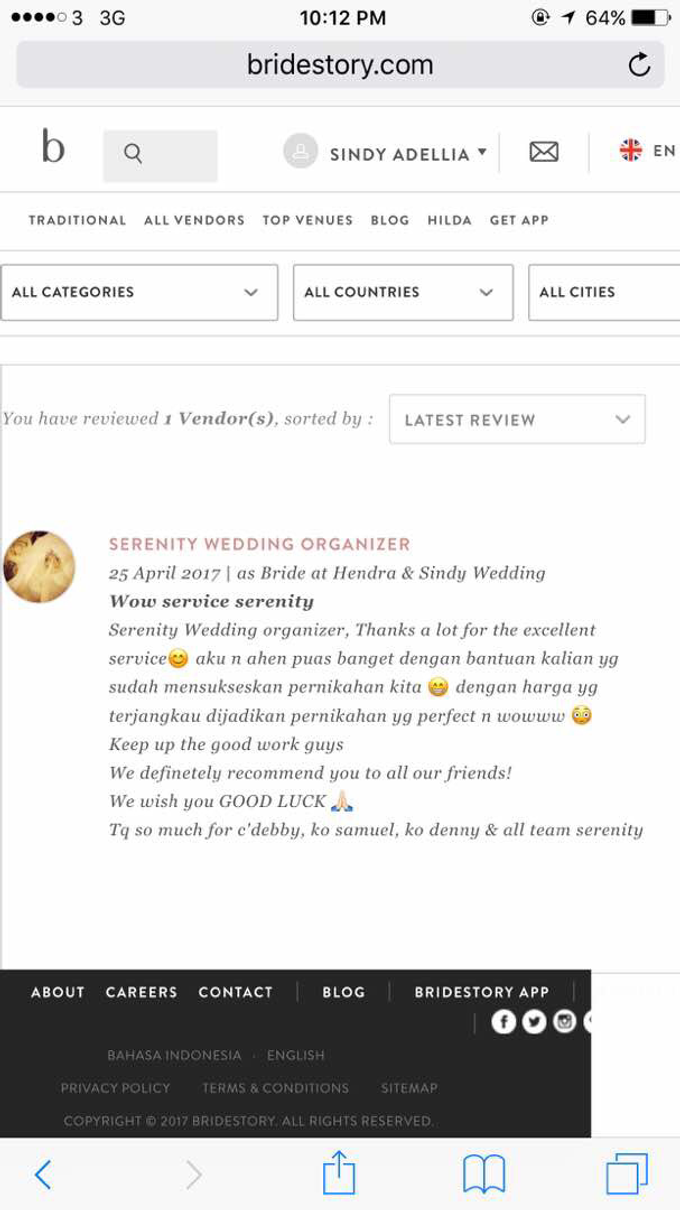 Testimoni from our Lovely Groom n Bride  by Serenity wedding organizer - 023