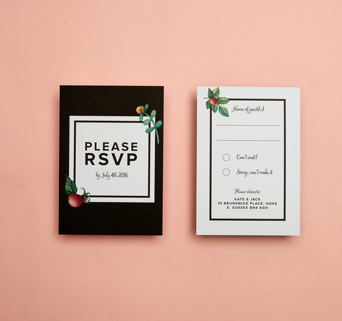 Midnight template design by Vicky Perry Wedding Stationery - 003