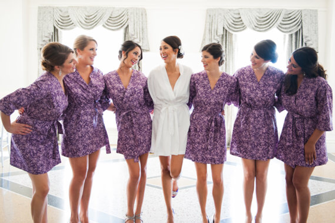 Bridesmaids Robes by Modern Kimono - 003