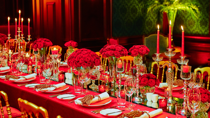 Beautiful Red roses themed wedding by Merit Events - 001