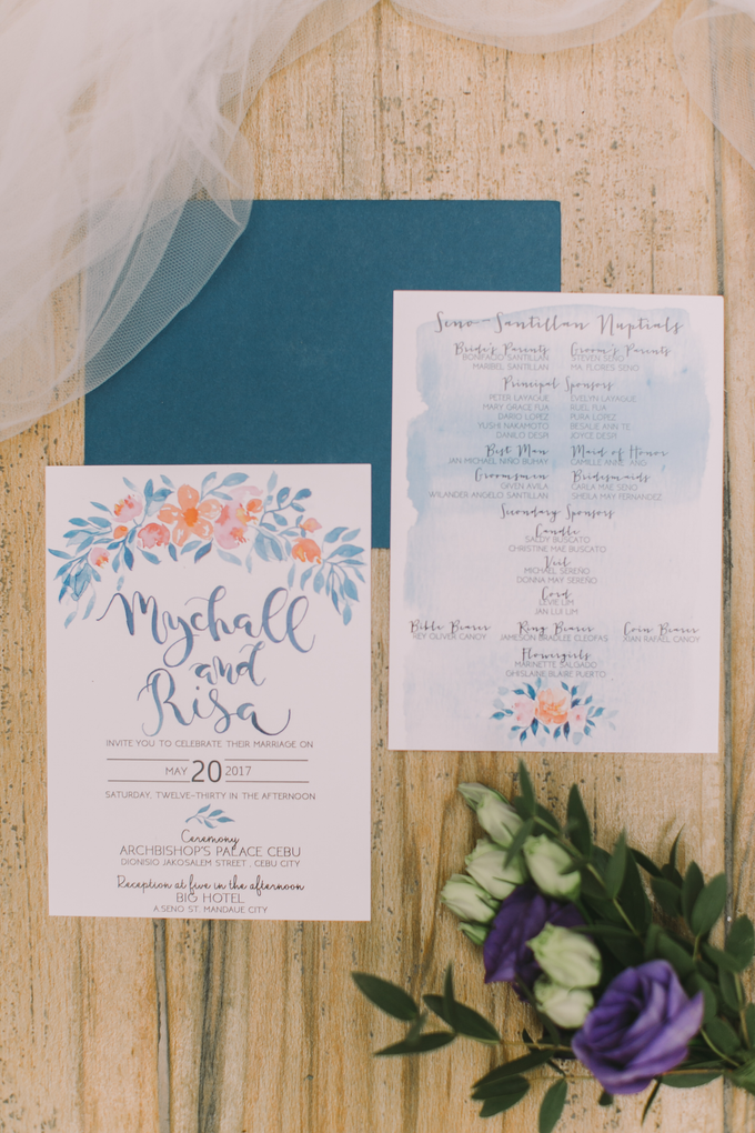 Watercolor and Calligraphy Wedding Invitations by First of April - 018