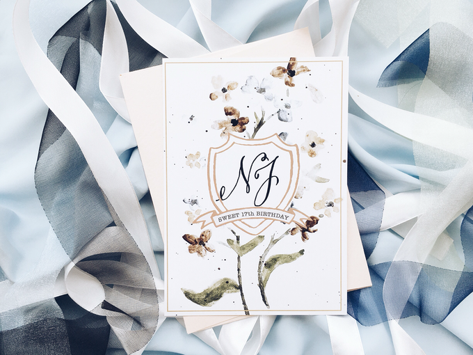 Sweet 17 Botanical Invitation by Meilifluous Calligraphy & Design - 001