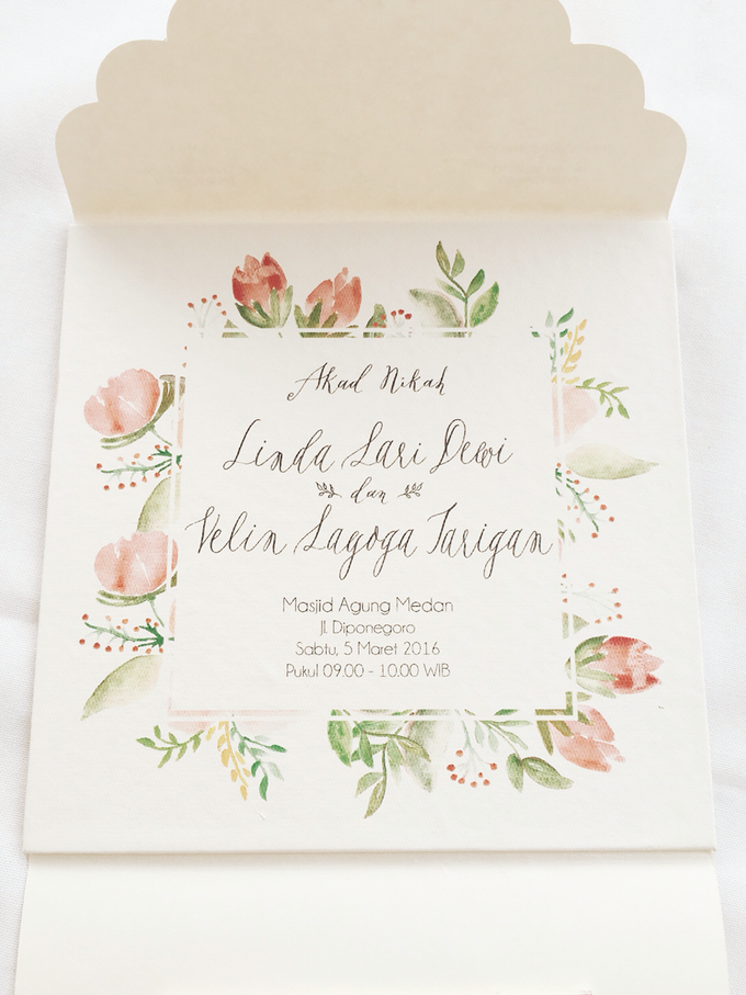 Dewi + Velin Invitation by Meilifluous Calligraphy & Design - 002