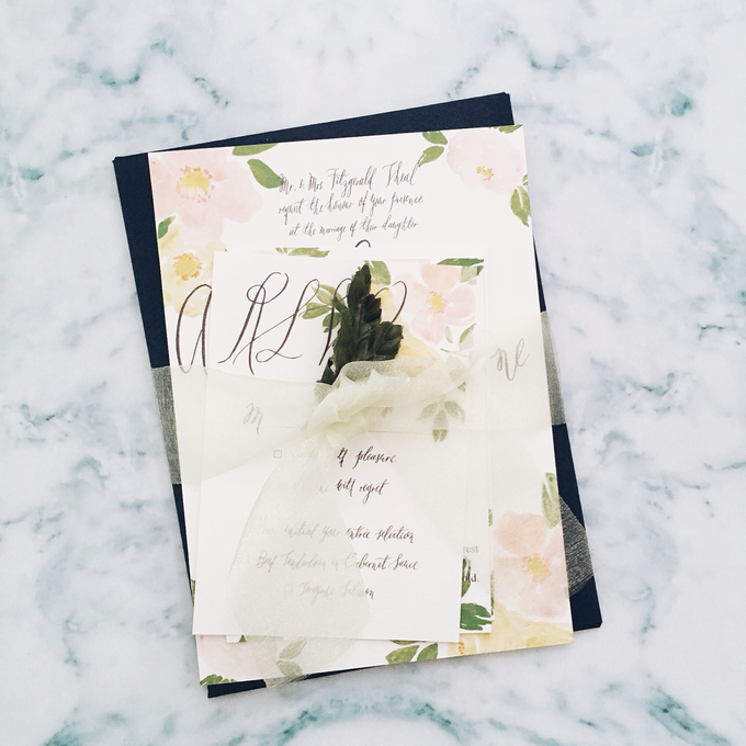 Spring theme invitations design by Meilifluous Calligraphy & Design - 005
