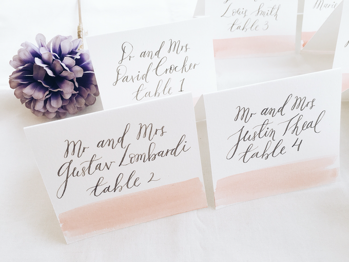 Place Cards by Meilifluous Calligraphy & Design - 005