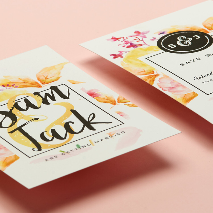 Vintage Floral template design by Vicky Perry Wedding Stationery - 007