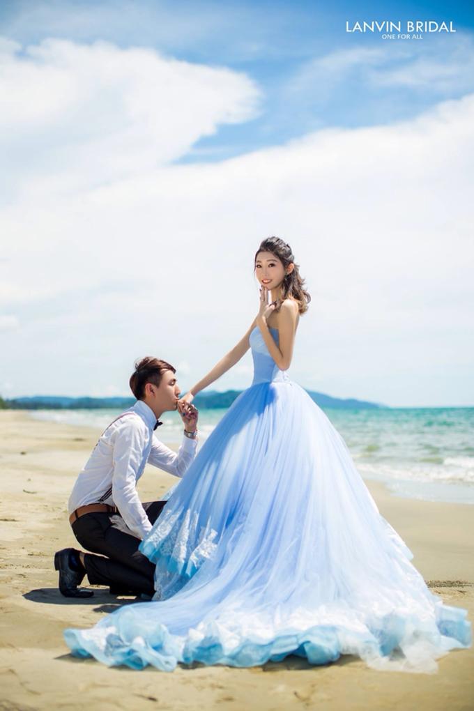 Local photo shooting (beach) by lanvin bridal - 002