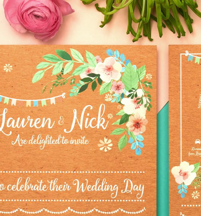 Bespoke designs by Vicky Perry Wedding Stationery - 002