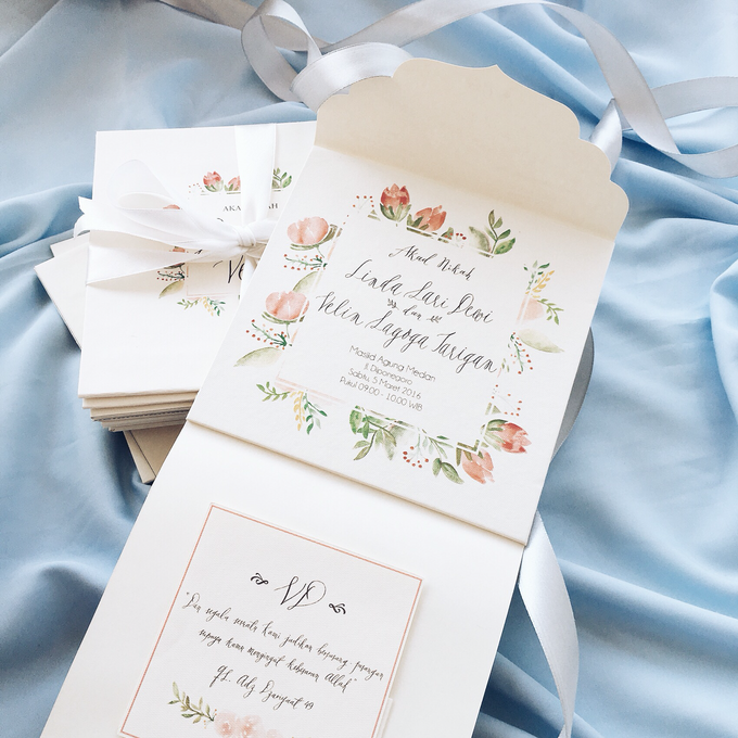 Dewi + Velin Invitation by Meilifluous Calligraphy & Design - 004