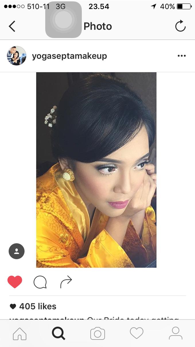Wedding make up for Tara Rawindra (Javanese Paes& Padang) and Kathya Paramitha (National) by Yoga Septa Make Up Artist - 015