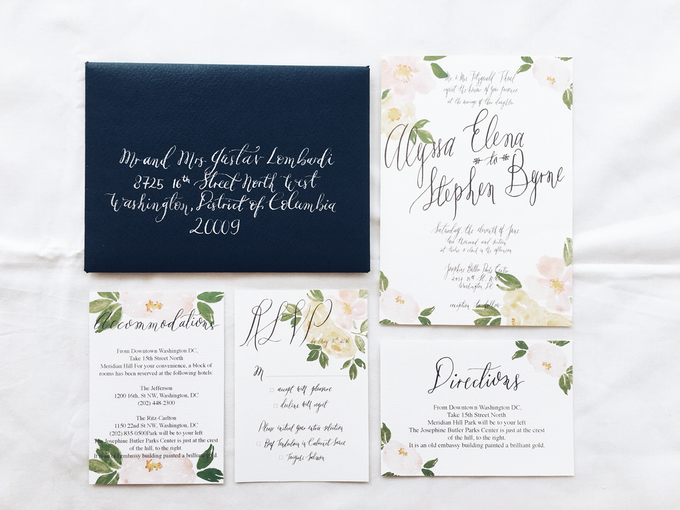 Spring theme invitations design by Meilifluous Calligraphy & Design - 007