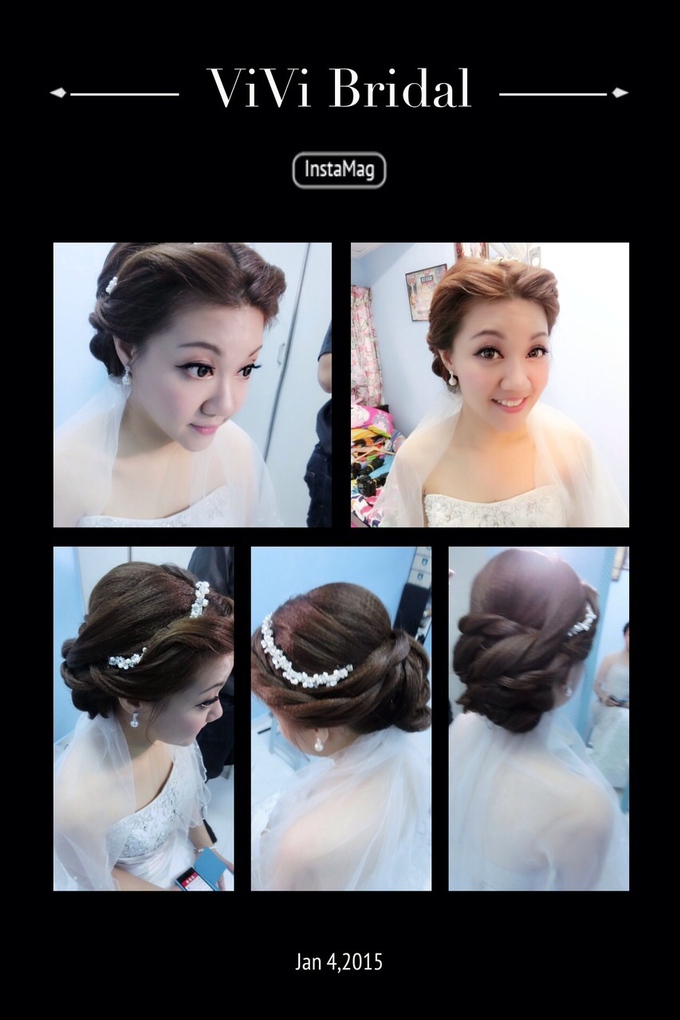 Bridal makeup and hairstyling  Actual day  by VIVI PROFESSIONAL BRIDAL MAKEUP - 005