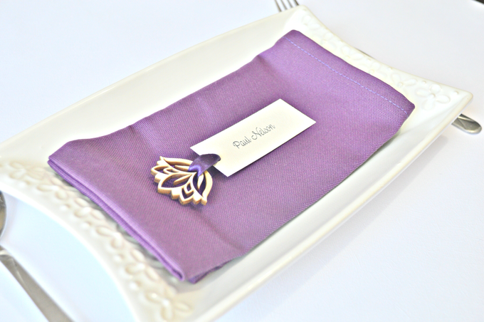 Purple place cards and table numbers by Jasmine wedding prints - 003