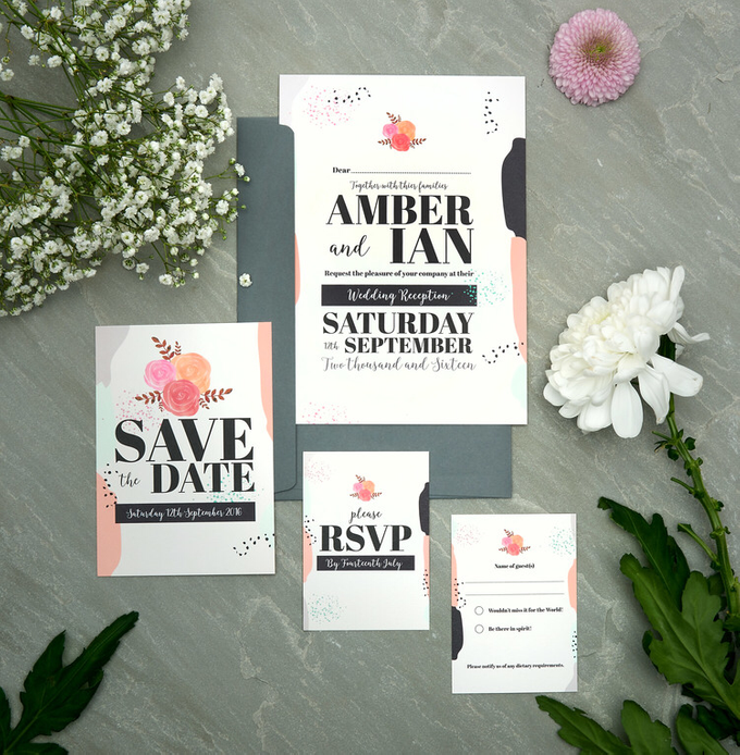 Spring template design by Vicky Perry Wedding Stationery - 005