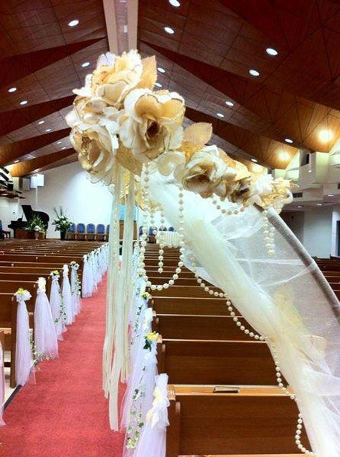 Simple church wedding setup by ilmare Wedding - 002