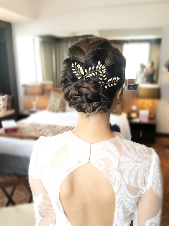 Bridal Hairstyles  by Zinny Theint Make-up Artistry - 011