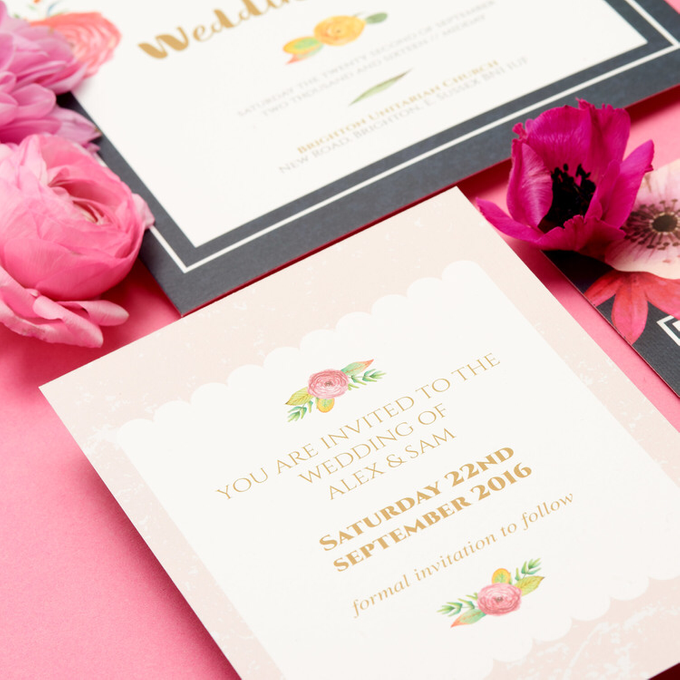 Blooms template design by Vicky Perry Wedding Stationery - 007